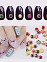 Vackert-Finger / Tå-Andra Dekorationer- avMetall-100pcs metal edage nail pearls- styck4mm- cm