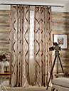Två paneler Fönster Behandling Modern Nyklassisistisk Medelhavet Europeisk Rustik , Löv Vardagsrum Polyester MaterialSkira Gardiner
