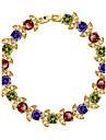Dame Brățări cu Lanț & Legături Cristal Cristal Zirconiu Zirconiu Cubic Placat Auriu Bijuterii 1 buc