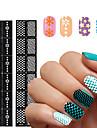 1 Autocollant d\'art de clou Manucure Pochoir Moules 3D en  acrylique pour ongles Fleur Maquillage cosmetique Nail Art Design