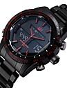 ASJ Bărbați Ceas Sport Ceas de Mână Japoneză Quartz Quartz Japonez LED Calendar Cronograf Rezistent la Apă alarmă Oțel inoxidabil Bandă