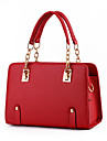 Women PU Baguette Shoulder Bag / Tote-Red / Black
