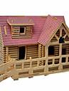 Puzzles Puzzles 3D Puzzles en bois Blocs de Construction Jouets DIY  Maison Bois Beige Maquette & Jeu de Construction