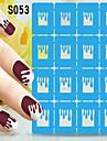 Tecknat / Vackert-Finger / Tå-Nagelsmycken- avAndra-1pcs- styck13*7.5cm- cm