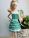 Ledigt Klänningar För Barbie Doll Vit / Grön Klänningar För Flicka doll Toy