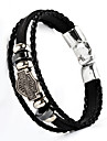 Bracelet Bracelets en cuir Alliage Cuir Mariage Quotidien Decontracte Regalos de Navidad Bijoux Cadeau Noir Argent Brun,1pc