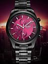 Men\'s Japanese Analog Quartz Black Steel Band Water Resistant Dress Watch Jewelry Cool Watch Unique Watch