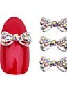 Vackert-Finger / Tå-Nagelsmycken / Glitter- avMetall-10pcs- styck5*3*1- cm