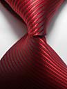 Dungi roșii de căprioară țesute de cravată din jacquard, cravată pentru bărbați