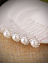 20 PCS Bride\'s Flower Shape Rhinestone Pearl Wedding Hair Clip Accessories Jewelry
