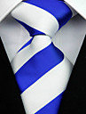 Cravată(Albastru / Alb,Poliester)Dungi