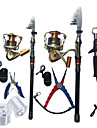Canne telescopique Plastique dur Nylon Aluminium EVA Acier inoxydable/fer 180,270 MPeche en mer Peche sur glace Peche aux spinnerbaits