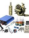 basekey tattoo kit jh571 en maskin med grepp 3x10 ml bläck nätaggregat