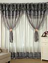 Två paneler Modern Solid / Lappverk Enligt bilden Living Room Polyester Blackout Gardiner draperier