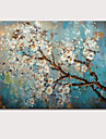 Pintados a mao Abstracto / Floral/BotanicoModern 1 Painel Tela Hang-painted pintura a oleo For Decoracao para casa