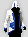 Inspire par Assassin Conner Manga Costumes de Cosplay Cosplay a Capuche Mosaique Imprime Rouge Bleu Manche Longues Haut Pour Unisexe