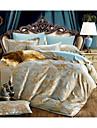 Fleur Ensembles housse de couette 4 Pieces Polyester Polyester/Coton Luxe Jacquard Polyester Polyester/Coton Lit 2 Places \'Queen\'1 x