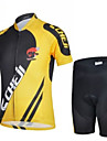 CHEJI® Cykeltröja med shorts Barns / Unisex Kort ärm CykelAndningsfunktion / Snabb tork / Ultraviolet Resistant / 3D Pad / Begränsar