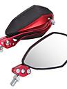 1 par spegel 10mm 8mm för universell motorcykel motorcykel svart + röd