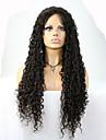 """8 """"-24"""" brasilianskt jungfruligt hår lockigt limfria spets front peruk färg naturligt svart baby hår för svarta kvinnor"""