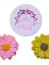 Fleurs un moule DIY trou de tournesol silicone Fondant Moules sucre Craft Outils de resine moules moules pour gateaux