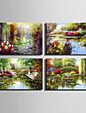 Peint a la main PaysageStyle europeen Un Panneau Toile Peinture a l\'huile Hang-peint For Decoration d\'interieur