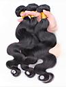3st lot malaysiska jungfru hår förkroppsligar vinkar naturligt svart malaysiska kroppen våg mänskliga hårförlängningar