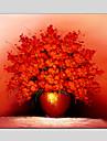 Dipinta a mano Natura morta / Floreale/BotanicalModern Un Pannello Tela Hang-Dipinto ad olio For Decorazioni per la casa