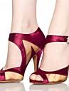 Zapatos de baile(Negro / Rojo) -Latino / Jazz / Salsa / Samba / Zapatos de Swing-Personalizables-Tacon Personalizado