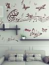 Djur / Tecknat / Romantik / Stilleben / Fashion / Högtid / Former / Vintage / folk / fantasi / Fritid Wall Stickers Väggstickers i 3D,PVC