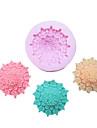 Flori una Hole flori Tufe de silicon Mold Fondant Pres forme de zahăr Meșteșug Instrumente Resin Mould matrite pentru Torturi