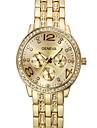 Men\'s Women\'s Unisex Fashion Watch Quartz Imitation Diamond Stainless Steel Band Silver Gold Rose Gold Brand