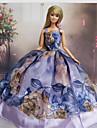 Princesse Robes Pour Poupee Barbie Pourpre clair Robes