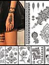 6st svart bläck tillfällig tatuering 2016 nya kvinnor män mode kroppen tillbaka konst tatuering klistermärke