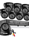 ZOSI® 8CH HDMI 960H DVR 8 pcs 1000TVL Waterproof Day Night CCTV Camera Surveillance Security System