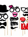 16PCS Card Paper Photo Booth Props Party Fun Favor