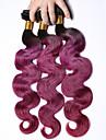 A Ombre Cheveux Bresiliens Ondulation naturelle 3 Pieces tissages de cheveux