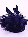 Femei Satin Pană Diadema-Nuntă Ocazie specială Informal Exterior Pălărioare 1 Bucată