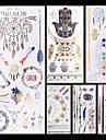 6-Series bijoux / Series animales / Series de fleur / Series de totem / Autres-Dore / Multicolore / Argente-Motif-10.2 * 21cm-Tatouages