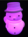 creatif couleur changeante noel bonhomme de neige LED Veilleuse necessaire cadeau de Noel colore