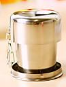 1st 7,5 * 3cm kreativa teleskopiska rostfritt stål kopp för att resa