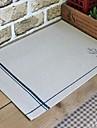 Carre Avec motifs Sets de table , Melange Lin/Coton Materiel Tableau Dceoration 4PC/SET