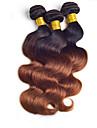 """3st / lot 8 """"-24"""" brasilianska jungfru hår, färg 1b / 30 vågigt, fabriken grossistförsäljning rå människohår väver."""