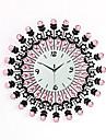 Moderne/Contemporain Famille Horloge murale,Rond Bois 60 x 60 x 3(23.62\'\' x 23.62\'\' x 1.18\'\') Interieur Horloge