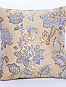 Chenille / Polyester Housse de coussin,Floral Traditionnel