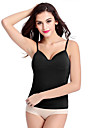 Women\'s Solid Blue/Pink/White/Black Modal Vest, Spaghetti Strap Sleeveless with Wireless Bra Padded