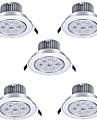 7W Infälld glödlampa Infälld retropassform 7 Högeffekts-LED 750 lm Varmvit / Kallvit AC 85-265 V 5 st