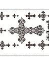 5 Tatueringsklistermärken Smyckeserier / Djurserier / Blomserier / Totemserier / Annat / tecknad serie Ogiftig / Mönster / VattentätDam /
