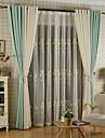 Två paneler Rustik Blommig/Botanisk Vit Dining Room Poly/Bomull blend Sheer gardiner Shades