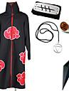 Inspirerad av Naruto Hidan Animé Cosplay Kostymer/Dräkter cosplay Suits / Mer accessoarer Tryck Svart Kappa / Mer accessoarer